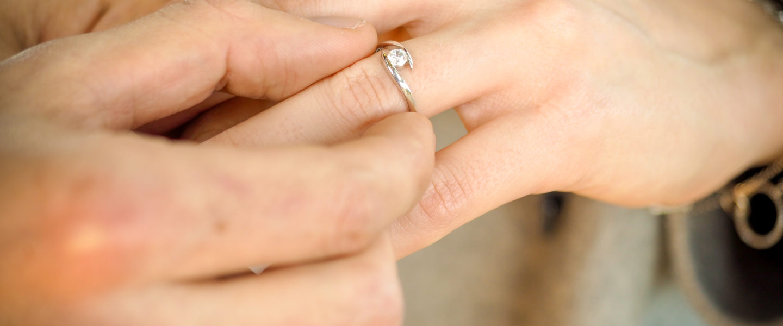Une demande en mariage romantique