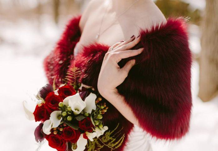 Je veux … habiller la mariée en hiver